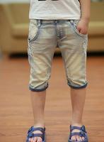 2016 Summer Children Shorts Causal Blue Color Baby Boy Jean Shorts For Boys Big Kids Summer
