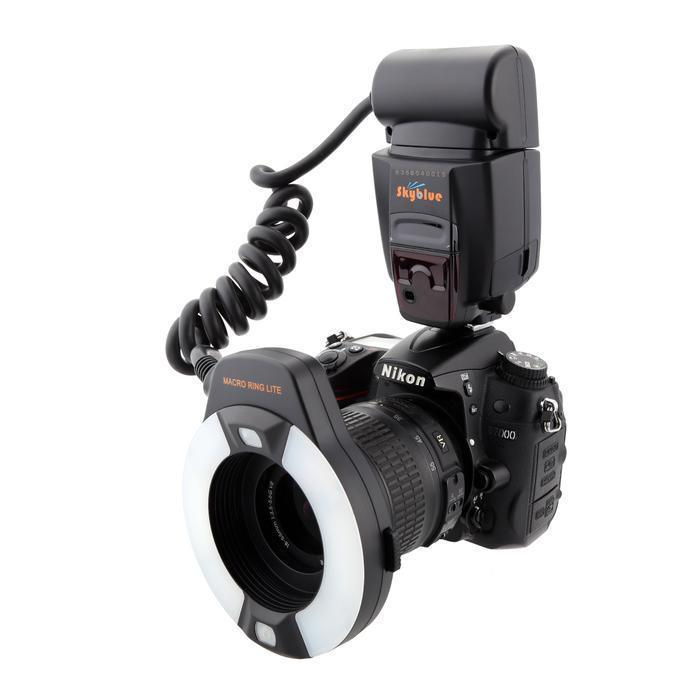 Meike MK-14EXT TTL Macro ring flash AF assist lamp For Nikon D7100 D750 D800 skyblue mk 14ext 2 0 lcd 9w 5500k 5500lm led profession ttl macro ring flash light for nikon dslr