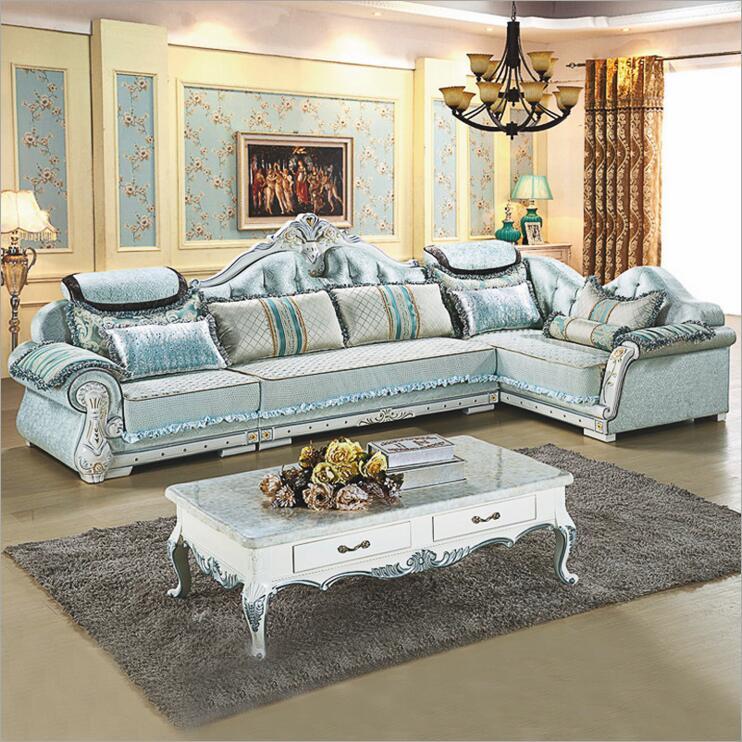 living room furniture modern fabric sofa European sectional sofa set a1263