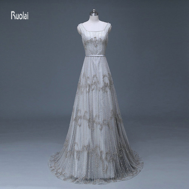 Luxury Heavy Hand Beaded Real Sample Bridal Gowns A line Wedding ...