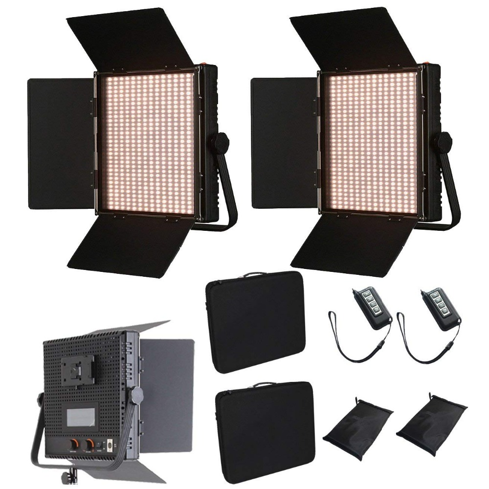 KIT 2x 1024ASVLY LED Bi-Color Dimmable Panel V-Mount Plate LCD Touch Screen remote control 4 studio filming lighting  CD50KIT 2x 1024ASVLY LED Bi-Color Dimmable Panel V-Mount Plate LCD Touch Screen remote control 4 studio filming lighting  CD50
