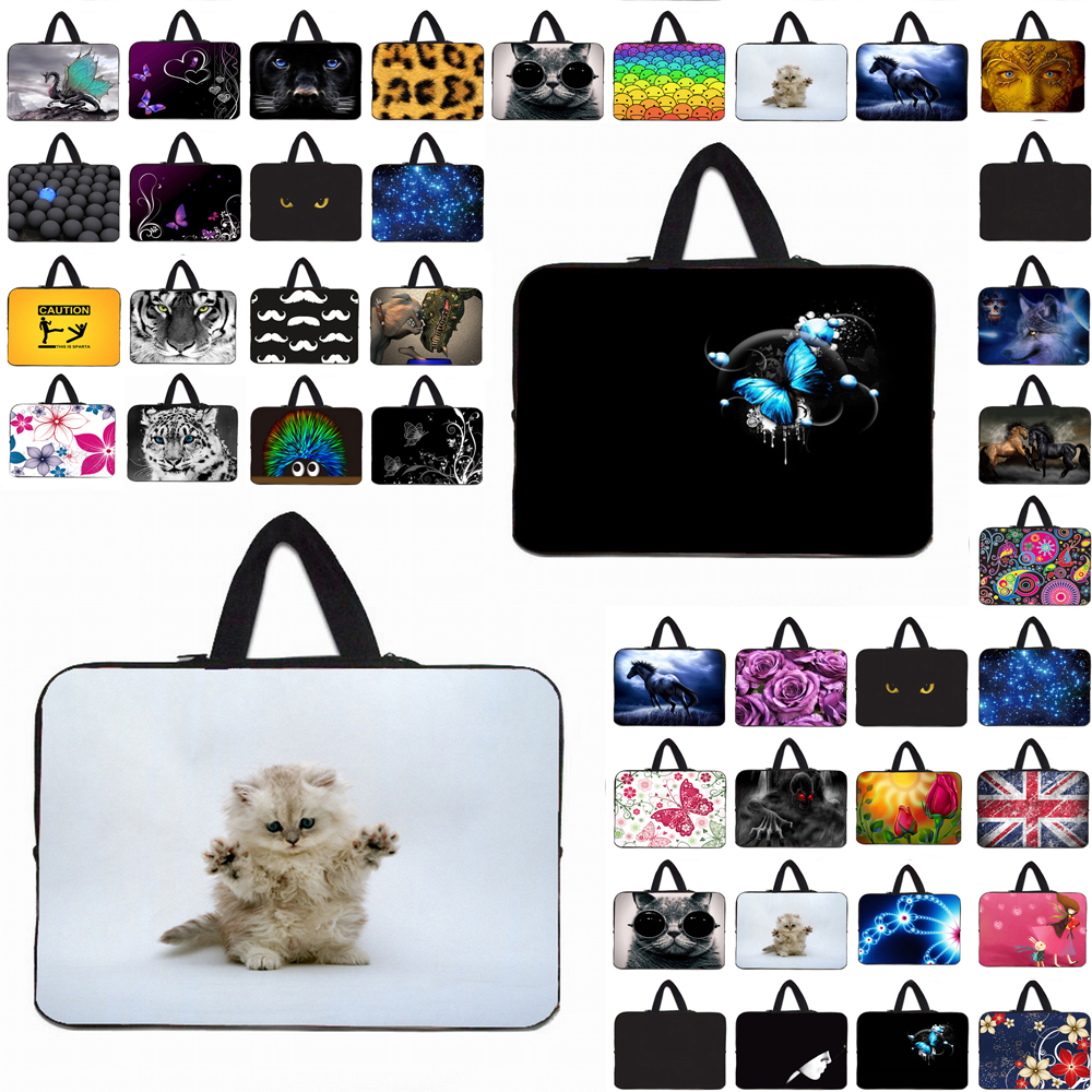 10 11.6 12 13 14 15.6 17 17.3 Laptop Sleeve Bag Portable Cover Case Neoprene Handle Pouch For Acer Aspire One Sony Dell XPS ASUS