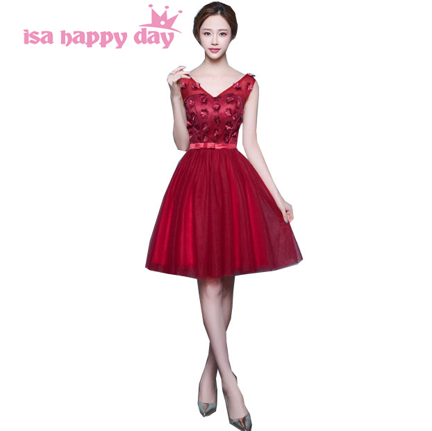 1e4fbd11163f new arrival 2017 fashion beautiful short tulle wine red tea party prom dress  corset ball gown dresses 2016 for teens H3745