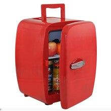 Olyair 14L retro fridge mini car fridge portable fridge single door car cooler 40-60W 12V car red/black