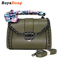 RoyaDong 2017 Women Shoulder Bags Fashion Women's Handbags With Chains Scarf High Quality Artificial Leather Women Bag