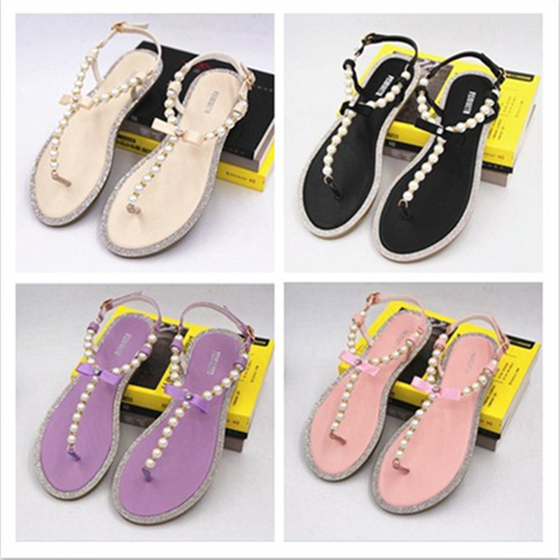 784725b045c3a3 Brand women. SLHJC 2017 Summer Crystal Jelly Shoes Female Sweet Open Toe  Flat Heel Casual Beach Sandals ...