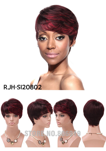 new fashion pixie short wigs natural black color cheap women wigs wet and  wavy wendy williams wigs for sale wig short hair 4b4e0554e8