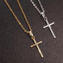 Lingmei New Fashion Cross Jewelry Pretty Women Pendant White Gold/Yelkow Gold Color Necklace With Chain Best Gifts Free Shipping