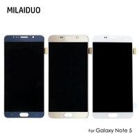 Оригинальный SUPER AMOLED для SAMSUNG Galaxy Note 5 N920A N9200 SM N920 N920C 5,7 ''OLED ЖК дисплей Дисплей Сенсорный экран планшета Ассамблеи