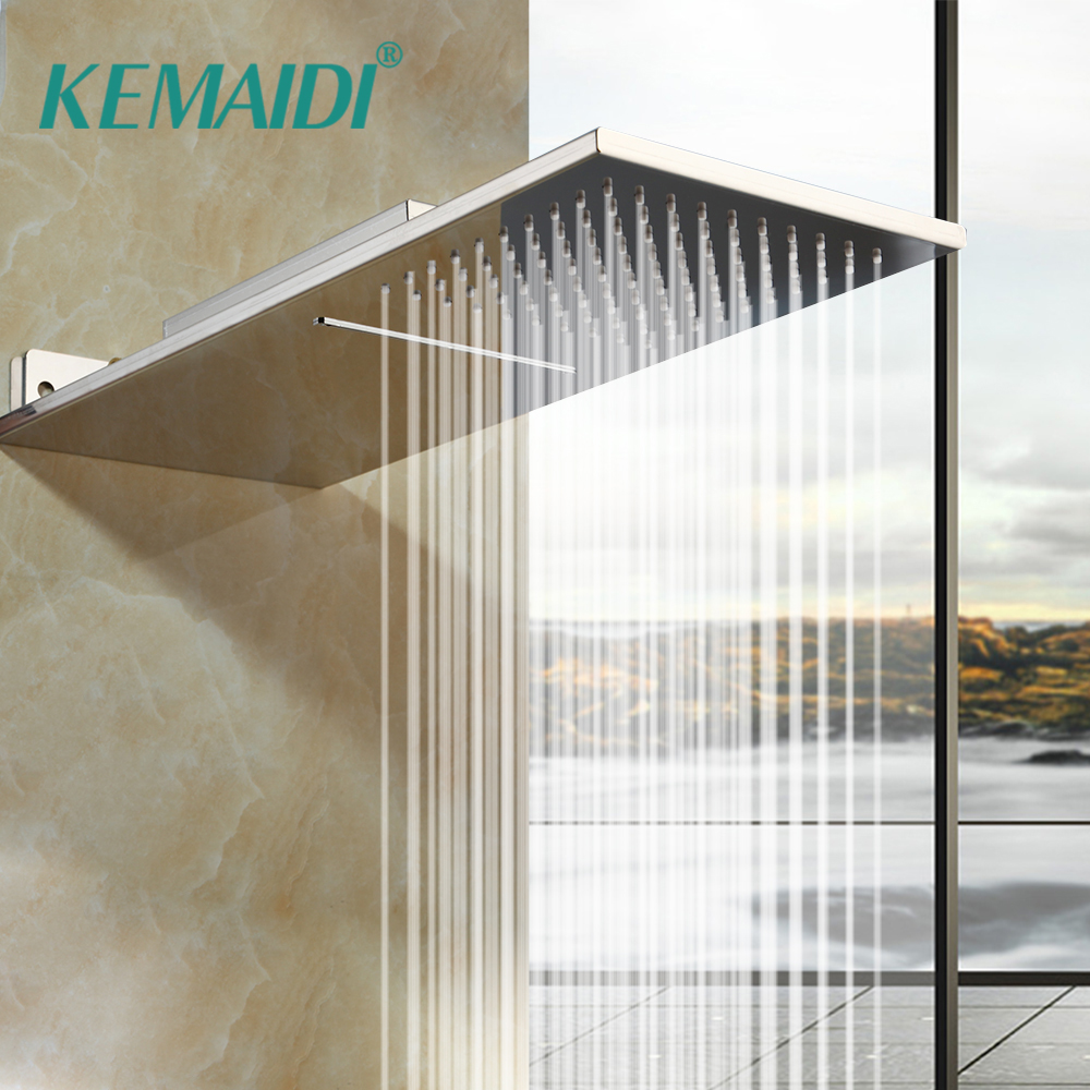KEMAIDI Bathroom Showerheads 8 Inch Rainfall Shower Head Rain Shower Chrome Finish Square Stainless Steel Waterfall Shower