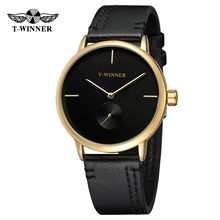 T-winner Fashion Top Brand Men Mechanical Watches Genuine Le