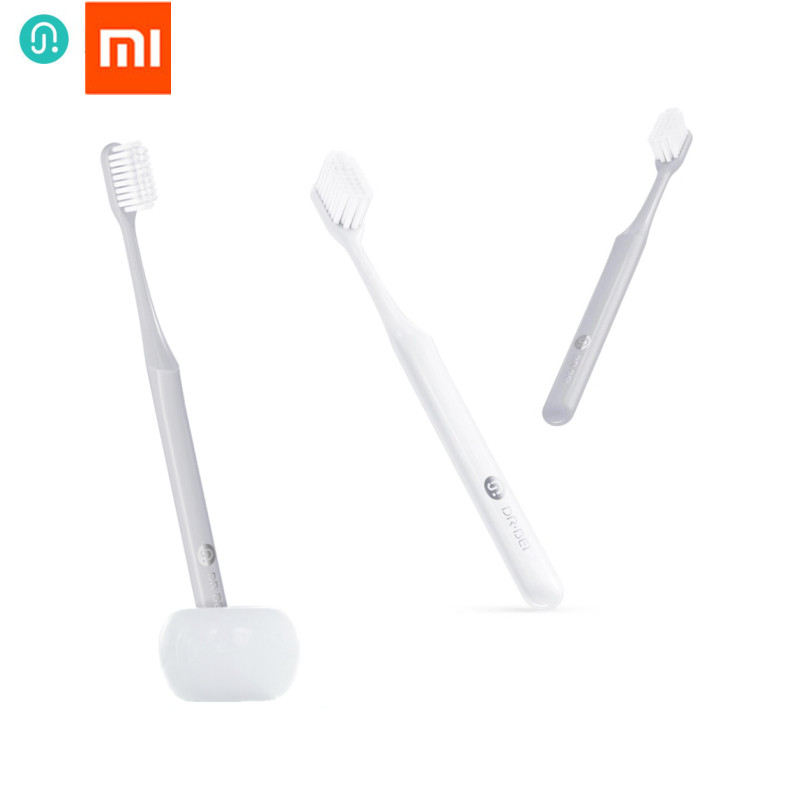 8pcs/lot Original Xiaomi Mijia Doctor B Youth version BET Toothbrush Comfortable Soft Grey & White to Choose Dental Care Soocas image