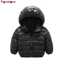 Lightweight hooded cotton-padded boys jacket women winter coat infants & youngsters sweet coloration outerwear youngsters winter tops for women