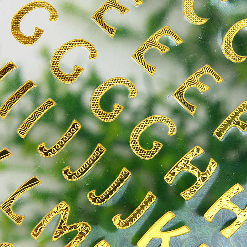 Lychee Ömrü Altın Folyo harf etiketler Dekoratif Kırtasiye Zanaat Çıkartmalar Scrapbooking Diy Albümü Sopa Etiket