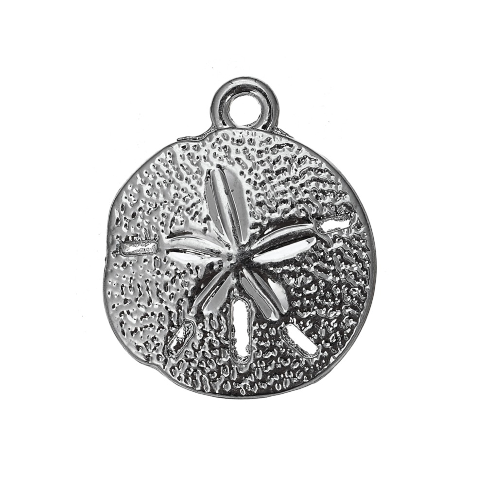 my shape 30pcs Factory Price 17.3*20.5 Sand Dollar Charms Nautical Beach Lover Jewelry Making Sea Urchin Pendant for Bracelet
