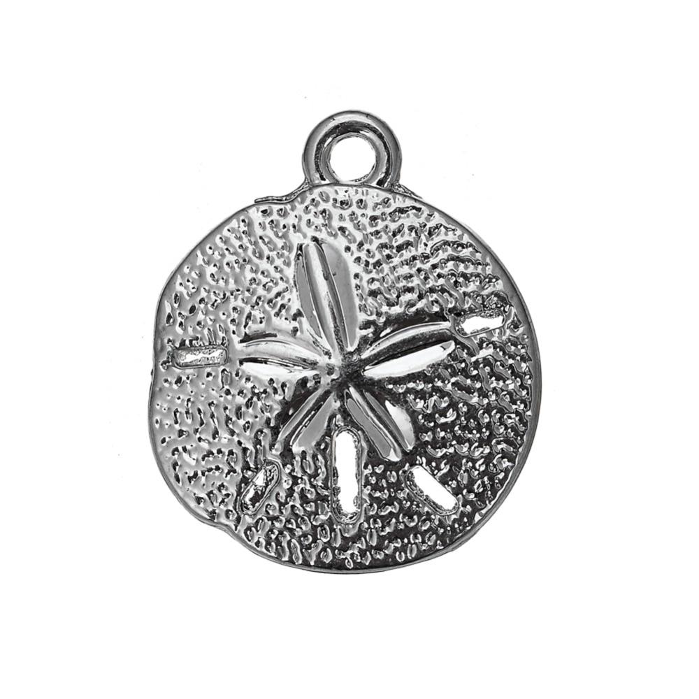 Ma forme 30 pièces prix usine 17.3*20.5 sable Dollar charmes nautique plage amant bijoux faisant oursin pendentif pour Bracelet