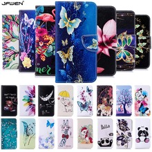 все цены на Cartoon Cute Leather Phone Cases For Huawei Y6 2019 Case Flip Cover Wallet Funda For Coque Huawei Y6 Pro Prime 2019 Case Cover онлайн