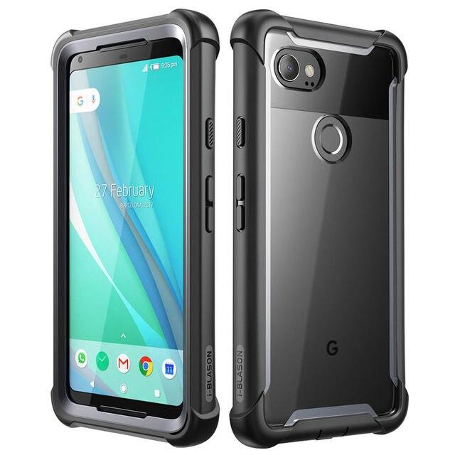 Için Google Pixel 2 XL için kılıf orijinal iphone Blason Ares serİsİ tam vücut sağlam temizle tampon durumda dahili ekran koruyucu