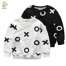 kids sweatshirts 2016 new brand Spring and Autumn Boys girls hoodies cotton Terry sweater for child t shirt Letter OH 7 colors