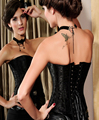 Black Strapless Sweetheart Corset