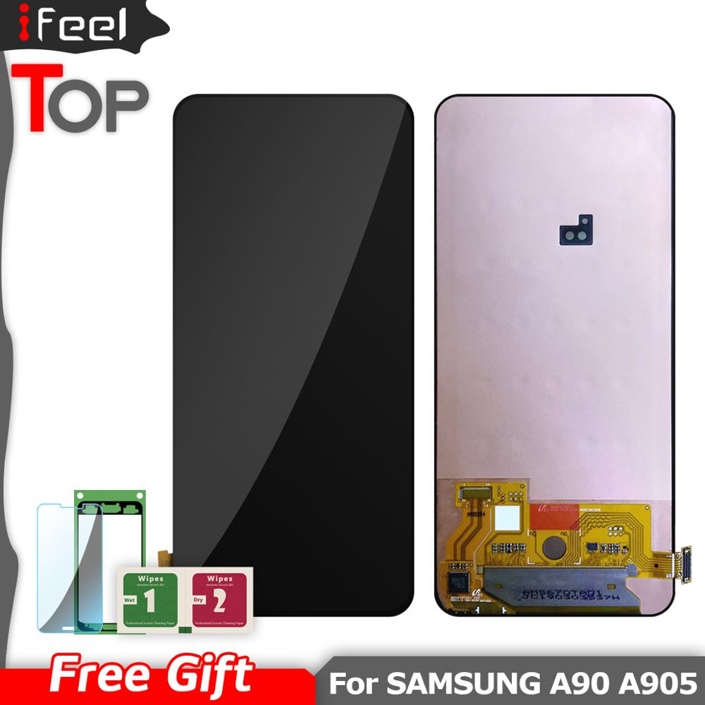 SUPER AMOLED For Samsung Galaxy A90 A905 A905F SM-A905 LCD Display + Touch Screen Digitizer Assembly For SAMSUNG A90 LCDSUPER AMOLED For Samsung Galaxy A90 A905 A905F SM-A905 LCD Display + Touch Screen Digitizer Assembly For SAMSUNG A90 LCD