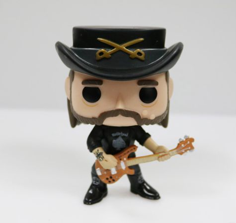 Imperfect Original Funko pop Rocks: Lemmy Kilmister Vinyl Figure Collectible Model Loose Toy Cheap No box