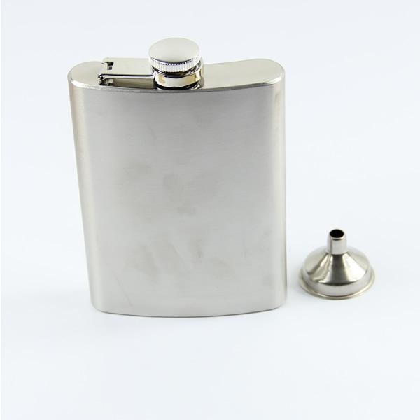 E74 Stainless Steel 8oz Jack Daniels Liquor Alcohol Party Drink Hip Flask + Funnel Bracelet