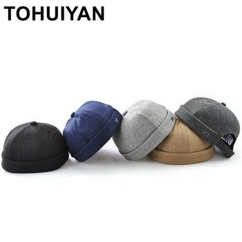 TOHUIYAN sin ala gorra de algodón Para hombres y mujeres de la calle baile  cráneo tapa Gorras Para Hombre Hip Hop sombrero ajustable sombrero de  béisbol ... d2aa5ae71b7