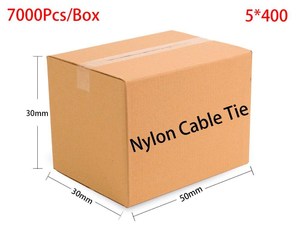 7000pcs/Box 5*400 5x400 width 4.8mm Self-Locking White Black Red Blue Yellow Green Nylon Wire Cable Zip Ties.Cable Ties 2 5 x 100mm self locking nylon cable zip ties black 100 pcs