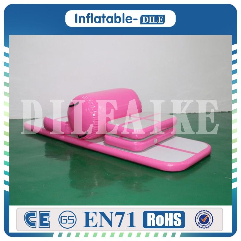 Livraison gratuite 6 m piste d'air gonflable tapis de culbuteur tapis de sol d'air Trampoline d'eau avec pompe à Air électrique pour un usage domestique/formation