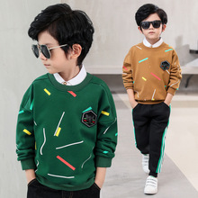 New Boys Clothing Autumn Winter Kids Thicken T-shirt Big Boys Outerwear Tees Children Long Sleeve Pullovers Warm Sweatshirt