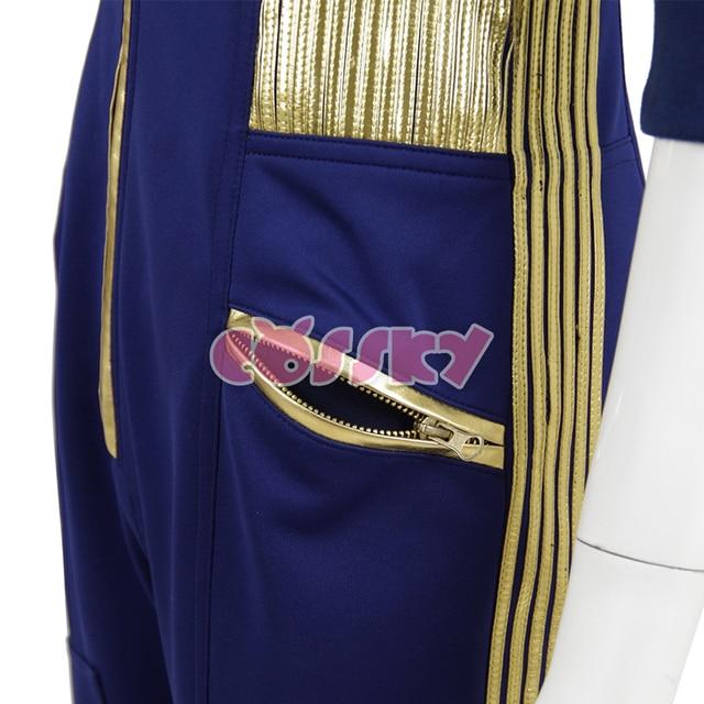 Star Trek Discovery Commander Jumpsuit Uniform Cosplay Costume Blue Women Jumpsuit Halloween Costume without Badge 5