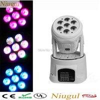 Niugul NightClub LED Moving Stage Light White Color 7x12w Mini Wash Moving Head Light Dj Lighting