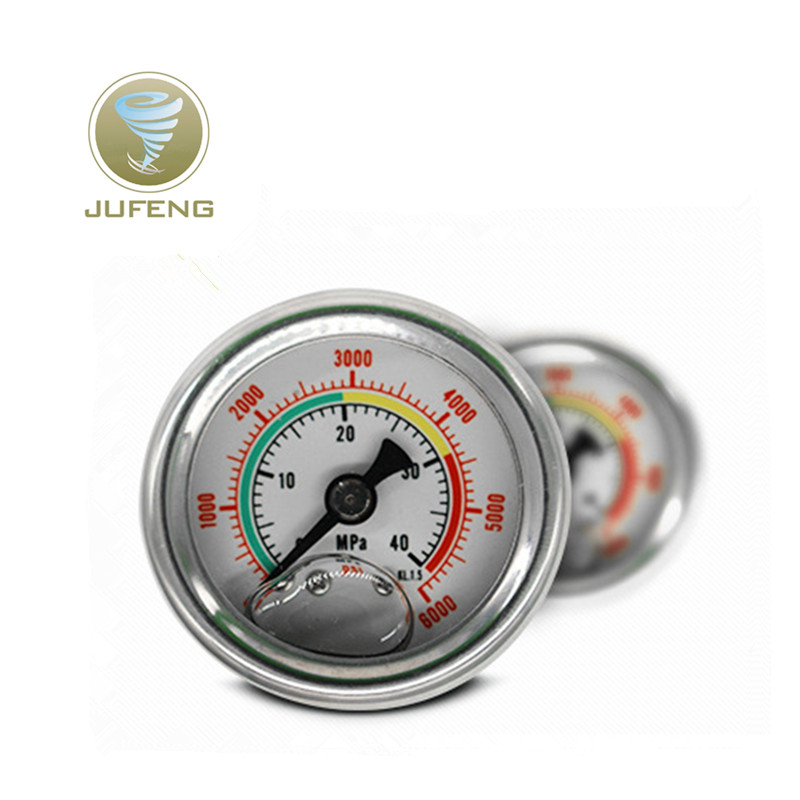 Dial Air Pressure Gauge 40Mpa/6000PSI Pressure Gauge With M10*1 For PCP Hand Pump Factory Outlet Double Scale barometer Pressure mini dial air vacuum pressure gauge meter manometer with double scale