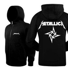 Neue 2017 Mode Dicke Warme Winter Casual Jacken Und Mäntel Hiphop Metallica rock Band Hoodies Männer Marke Hoody Sweatshirts