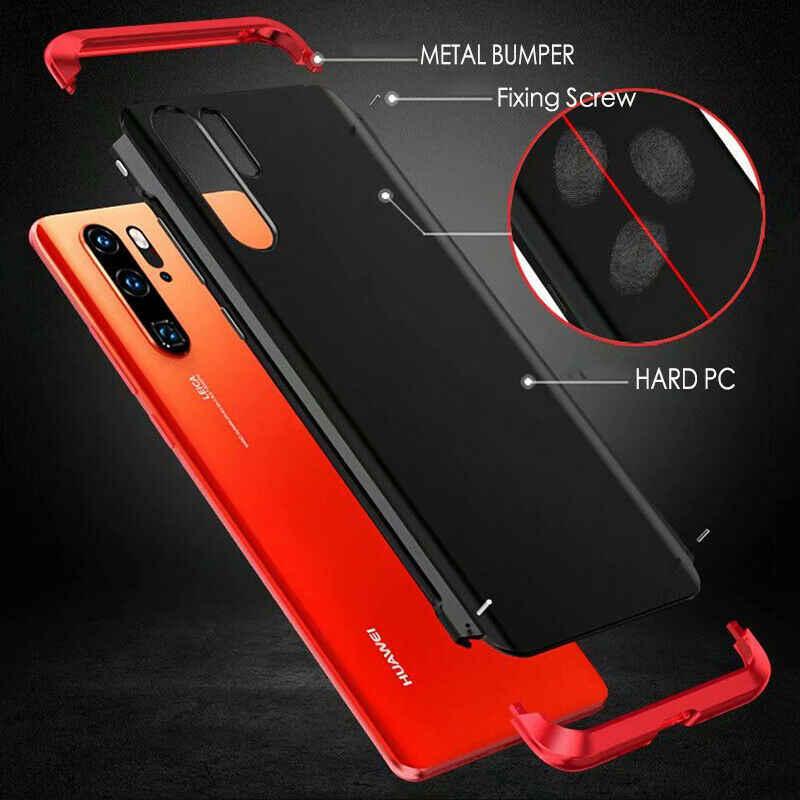 Per Huawei P30 Pro P30 Caso di Lusso Opaca Dura del PC Ibrida di Alluminio del Metallo Della Copertura Armatura Fibbia Design P30 Coperchio di Protezione coque Etui