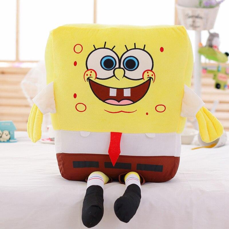 40-100cm Giant Kawaii Baby Toy Spongebob Patrick Star Plush Toys Cartoon Soft Animal Pillow Dolls Children Kids Birthday Gifts