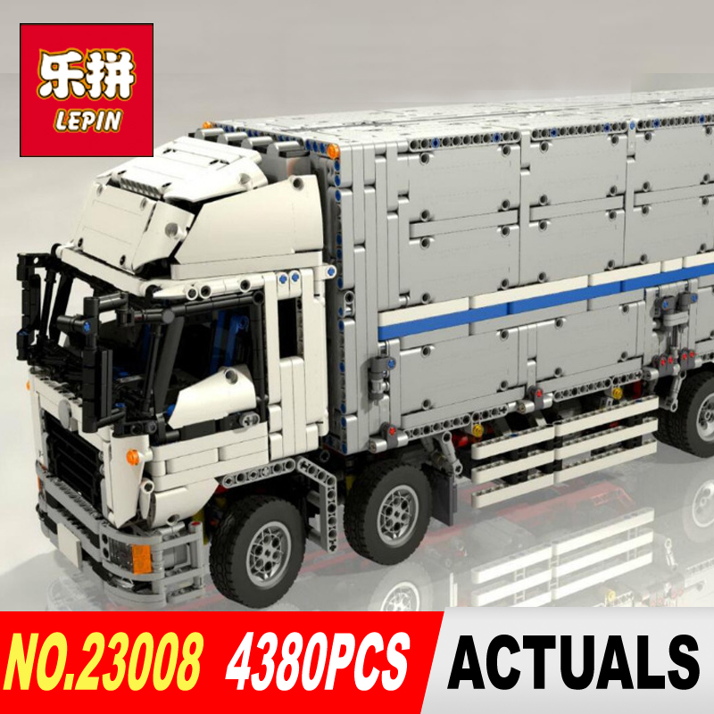 NEW LEPIN 23008 technic series 4380pcs MOC truck Model Building blocks Bricks kits Compatible of children gifts 1389 free shipping lepin 21002 technic series mini cooper model building kits blocks bricks toys compatible with10242