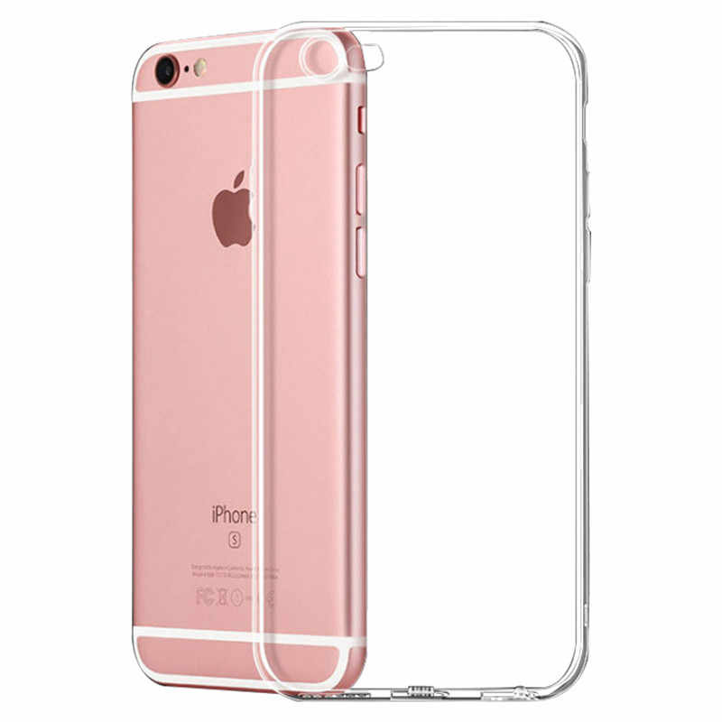 1pcs kawaii Ultra Thin Soft TPU shell mobile phone case Applicable to iphone 7plus or 8plus protective cover transparent shell