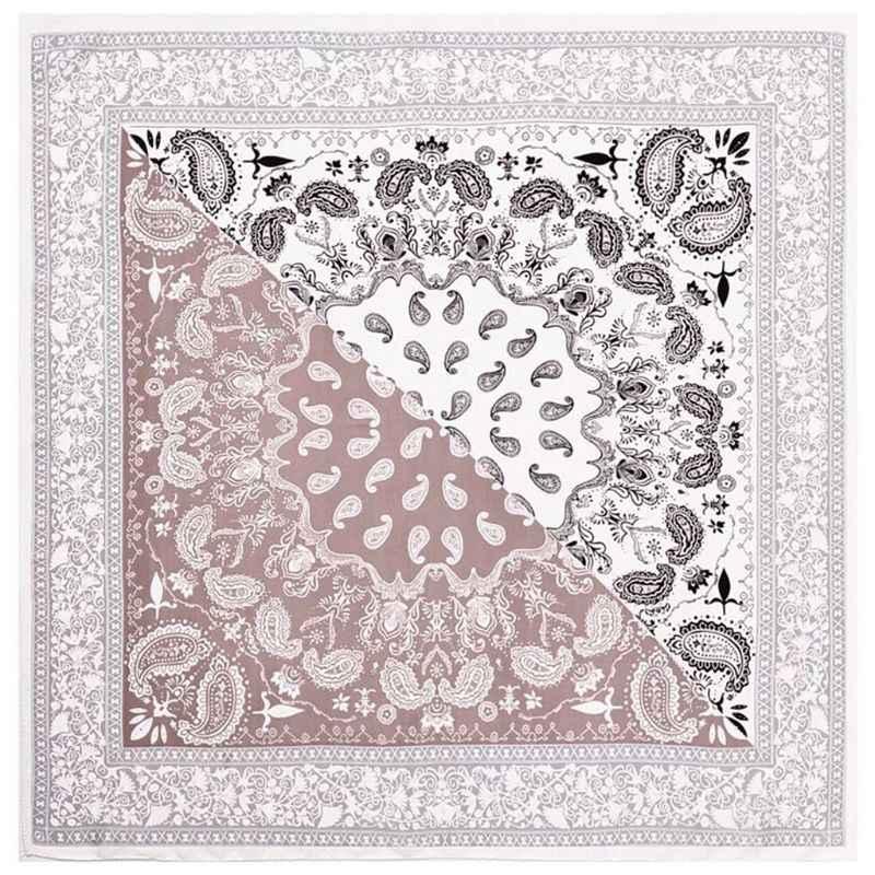 Faux delle donne di Seta Piazza Sciarpa di Collo Etnica Paisley Stampa Fazzoletto Da Collo di Colore di Contrasto Patchwork Decorativo Bandane Headwrap