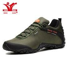 2016 Xiangguan человек открытый Треккинговые ботинки Рыбалка Спортивное походная Сапоги и ботинки для девочек Для женщин восхождение прогулки Sneskers большой размер EUR 36-48