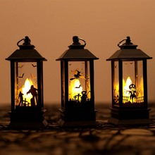 Electric Halloween Candle Lamp LED Simulation Flame Light Small Oil for Party Decoration