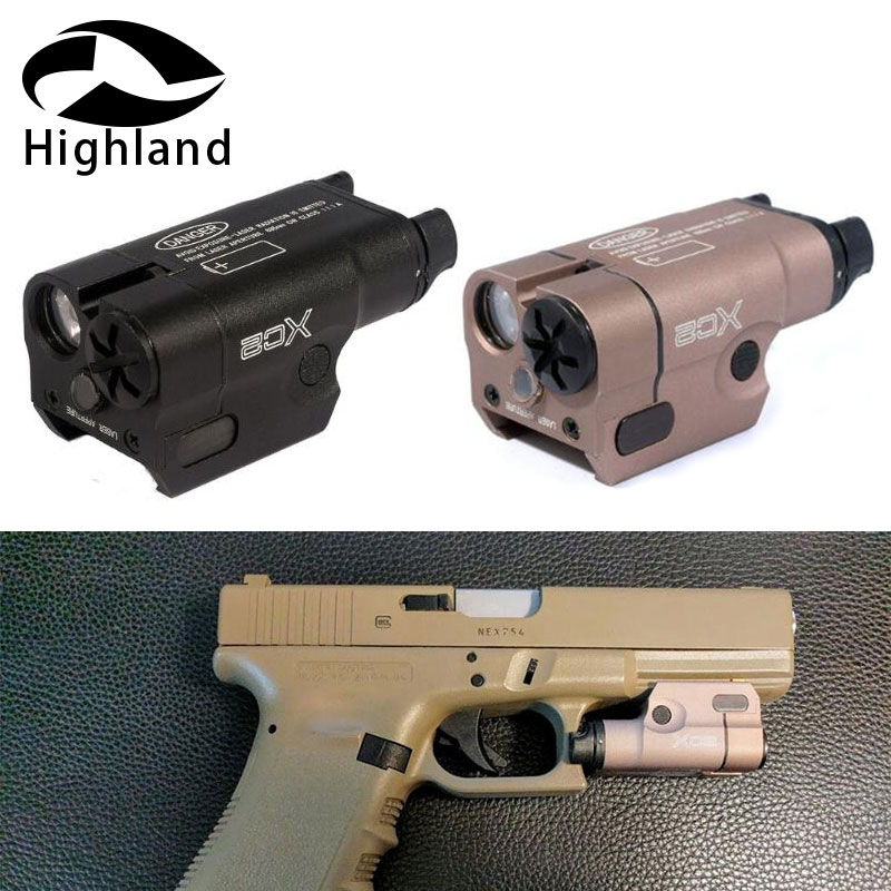 Hunting Glock XC2 Laser Light Compact Pistol Flashlight With Red Dot Laser Tactical  200 Lumens Airsoft FlashlightHunting Glock XC2 Laser Light Compact Pistol Flashlight With Red Dot Laser Tactical  200 Lumens Airsoft Flashlight