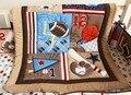 Nova 7 pcs bedding set bebê de beisebol do bebê esportes menino crib bedding conjuntos de berço crib bedding set ropa cuna quilt bumper folha saia