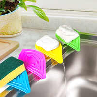 100 Uds vanzlife multifuncional resbalón anillo hojas de caja de jabón de drenaje de la limpia y platos soporte para esponja de fregadero de cocina envío EMS