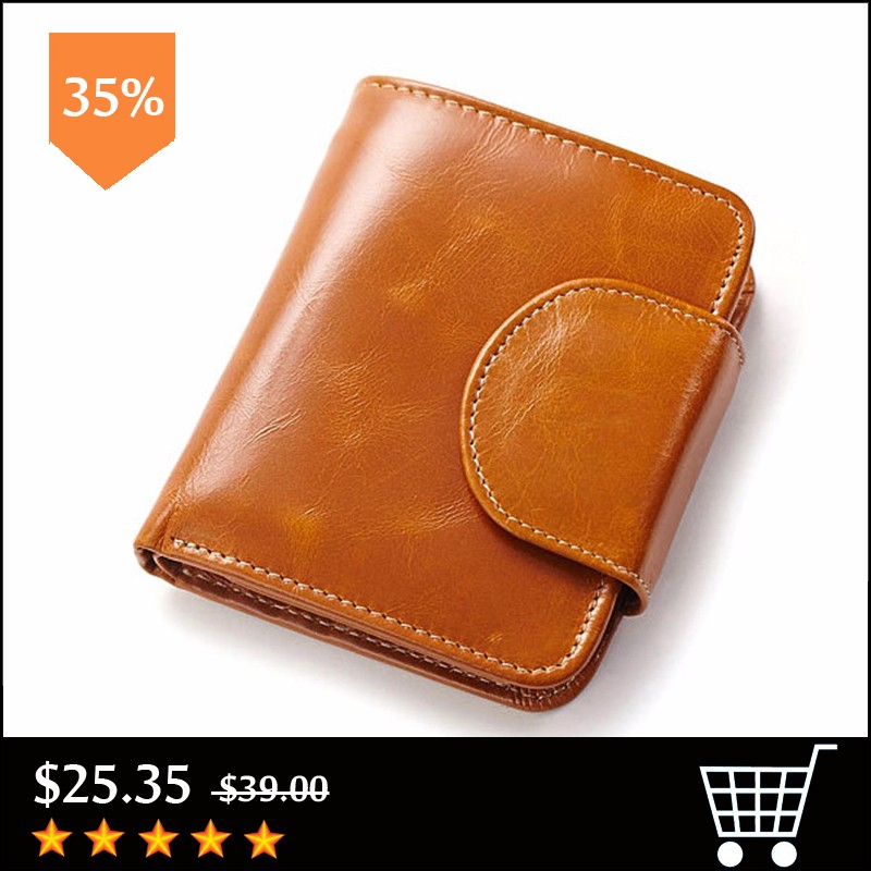 Card-Holder-Genuine-Leather-Women-and-Men-Wallet-Short-Wallets-Female-Coin-Small-Purse-Oil-Wax