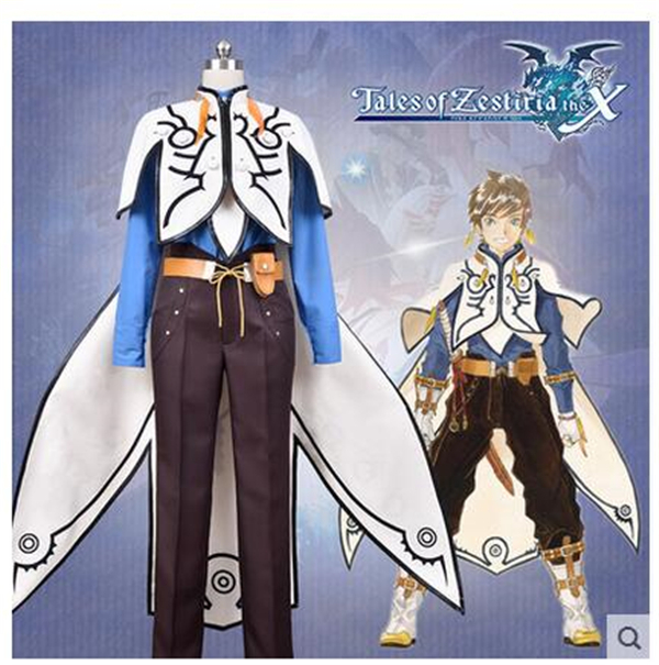 2017 New Clothing Made Anime Tales of Zestiria Game Sorey Costume Halloween Party Cosplay Costumes Full Set Free Shipping C