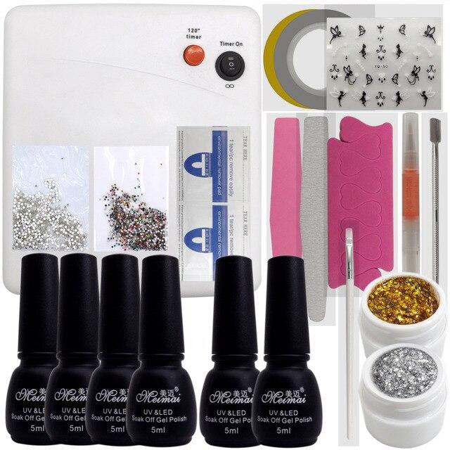 Nail Art Pro DIY Full Set Soak Off Uv Gel Polish Manicure Set Any 4 ...
