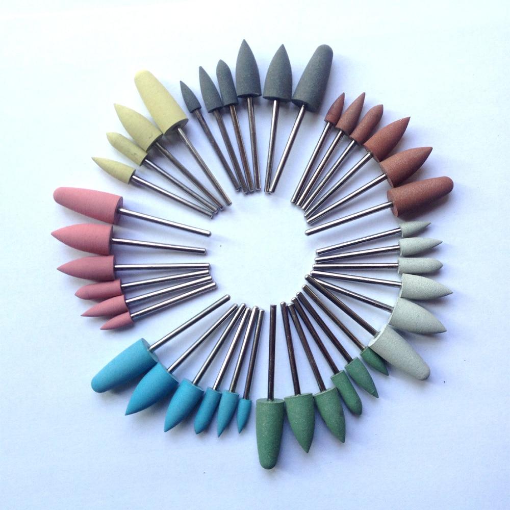 40 Pcs/lot,Dental Tools,carving Tools,polish Tools, Rubber Polishing Abrasive Tips,Shank Diameter:2.35mm