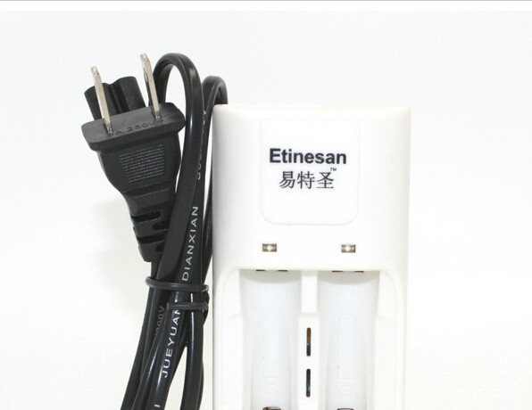 4pcs Etinesan 3.2v 1500mAh 14500 AA LiFePo4 lithium rechargeable battery+charger computer horn fan earphone telephone microphone